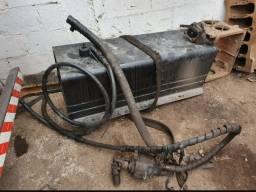 Kit Comando Hidráulico Bomba Para Caçamba Basculante