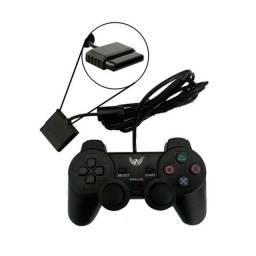 Kit 1 controle Inova PS2 + Memory card 8 mb - Oferta