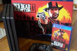 Playstation 4 Pro Ps 4 Pro 1 TB versão Red Dead Redemption 2
