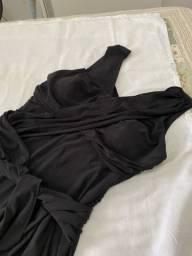 Vestido preto em Jersey TAM M