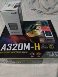 KIT DDR4 Athlon 220GE + A320M-H + HyperX DDR4 8GB 2666