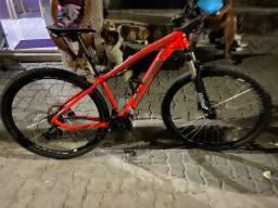 Linda bike ksw aro 29 ,quadro 15.5 suspensão hidráulica com nota