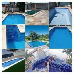 Construções e Reformas piscinas todo RS equipe Alto Nível
