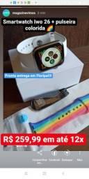 Smartwatch Iwo 26 + Pulseira Colorida. Parcelo em até 12x