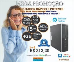 Mega Promoção CPu HP I5 4GB/500GB W10 0ffice NFAe