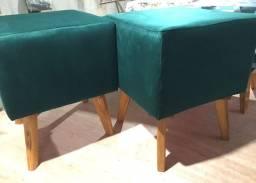 Puff - retrô pés de madeira - redondo e quadrado - r$ 74,99 - unidade - pronta entrega!