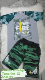 Conjuntos infantil free fire pronto entrega