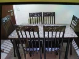 Mesa 6 cadeiras Granito