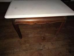 Mesa de Canto mármore madeira pura