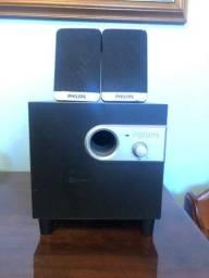 Amplificador com Subwoofer Philips SPA-1300.