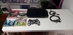 PlayStation 3 super slim 500GB travado funcionando perfeitamente entrega e parcela até 12x