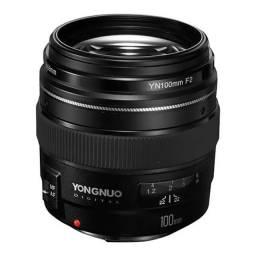 Lente para Câmeras Canon Yongnuo YN-100MM F2 de 58 mm com Abertura de Diafragma f / 2
