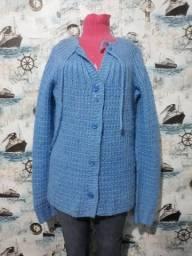 casaco lã trico tam G compridnho 20,00