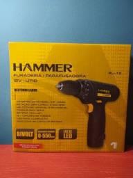 Parafusadeira/Furadeira Hammer 12V