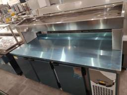 balcão refrigerado com condimentadora 1,90 pronta entrega *douglas