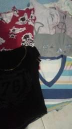 Lote de blusas por 5 reais