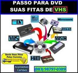 De Vhs Para DVD ou Outros Dispositivos de Sua Preferência