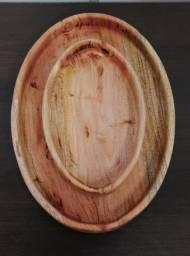 Cumbuca de madeira rústica