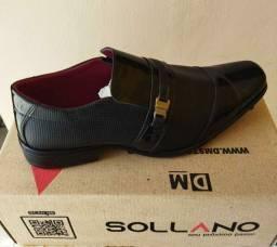 Sapatos sociais couro verniz