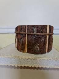 Título do anúncio: Cachepô/ Vaso decorativo de Madeira Novo