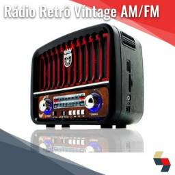 Rádio Portátil Retro Bluetooth Fm Usb sd