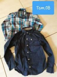 2 Camisas menino seminovas