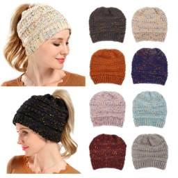 Quente inverno feminino chapéu