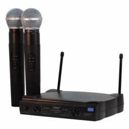 Microfone Profissional Duplo Lelong Le-906 Sem Fio