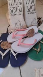 Sandálias feitas no Nordeste