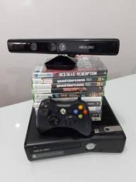 Xbox 360 slim destravado ótimo estado
