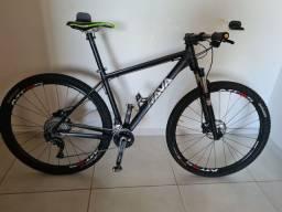 Bike Rava cave SLX 2x11 freio MT 501 suspensão rockshox Recon