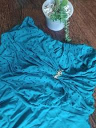 Blusa verde água