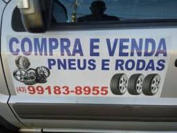 Rodas e pneus a partir de 30 reais cada