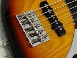 Baixo TJB5 jazz bass Tagima especial com Thru-body. Excelente contrabaixo com garantia.