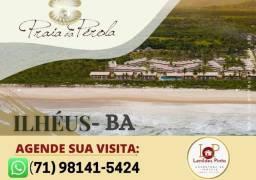 Exclusividade-  Praia da Pérola em Ilhéus 2/4 e 3/4 de 68m² à 143m²-Pé na areia!!
