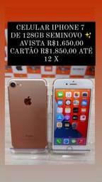 Promoção Iphone 7 128gb Rose Semi novo
