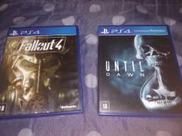 Fallout 4 e Until Dawn PS4