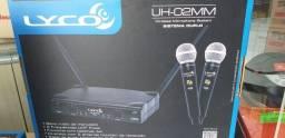 Microfone profissional duplo