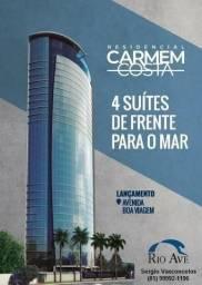 Apto 189m², 04 suítes, na Av Boa Viagem - Edifício Carmem Costa - andar Alto