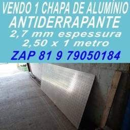 Chapa de alumínio para piso - antiderrapante - pechincha - zap 81 9 79050184