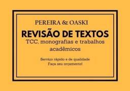 Revisão e formatação de trabalhos acadêmicos