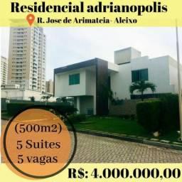 Residencial Adrianópolis casa duplex com 5 suítes semi-mobiliado