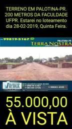 Lotes em Palotina-PR., à partir de R$ 55.000,00 à vista, ligue ou agende uma visita