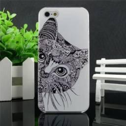 Capa Case Iphone 5/5S Gato Gatinho Arara Animais