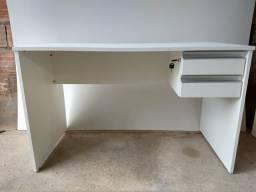 Mesas de escritório MDF 18mm, branco r$ 400 até 3 vezes sem juros no cartão