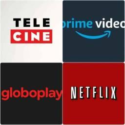Alugo netflix, globo play, amazon, telecine
