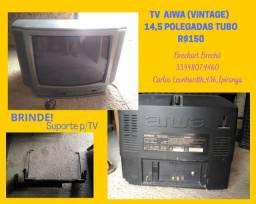 Tv Aiwa 14 polegadas Tubo (Relíquia)+Suporte de BRiNDE