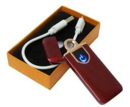 Isqueiro Eletrônico Touch Recarregável Usb A Prova De Vento