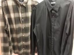 Camisa social tamanho G ( 2 peças)