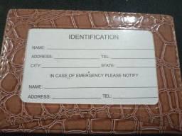 Porta cartão e indentidade